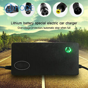 48/60/72V Lithium Battery Charger For Single-wheeled Electric Bicycle Ebike UK