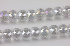 15/30PCS Faceted Ball Glass Crystal Charm Loose Spacer Beads Finding 8X6MM DIY