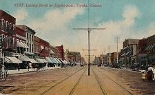 Looking North on Topeka Avenue in Topeka KS Postcard 1912