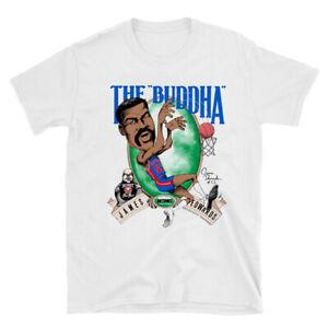 James The Buddha Edwards Detroit Pistons Caricature T-Shirt White Unisex TK1657