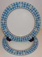 2 Sakura Snowflake Dinner Plates Debbie Mumm's the Word Stoneware S2298228G2