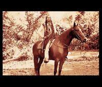 1897 Comanche Chief Quanah Parker PHOTO,Native American Indian Warrior Horseback