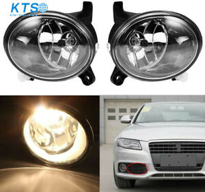 Clear Lens Fog Light Bumper Driving Lamp+Bulb for 2009-2012 AUDI A4 S4 B8 SEDAN