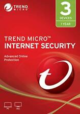 Trend Micro  Internet Security 2019  One Year 3 Devices