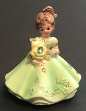 "Vintage Josef Originals August Peridot Birthstone Birthday Girl 4"" Figurine"