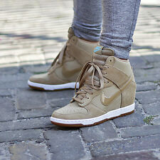 "Nike dunk sky hi essential ""desert cream"" (644877 200) femme bottes/uk 7 eu 41"
