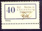 Lokalausgabe LÜTJENBURG (Ostholstein) 1945  Nr. 1  Fälschung