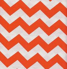 QUILT FABRIC:TONAL 100% COTTON, LARGE CHEVRON,  ORANGE, LC-17, By The Yard