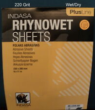 Indasa  Plus   9 x 11  220 Grit Wet/Dry Sandpaper  50 Sheets   # 1-220
