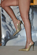 WOMEN  PARTY SHOES GIANMARCO LORENZI   SEXY, ELEGANT GOLDEN LEOPARD 6 1/2 EU 39