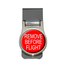 Remove Before Flight - Airplane Warning Money Clip