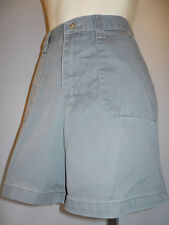 Lee Hi Waist Khakis Chino Sport Short Pant Retro Army Navy Olive Green Surplus 6