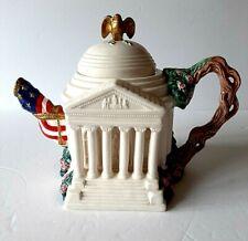 Fitz & Floyd The Jefferson Memorial Teapot Ltd Edition Fam American Landmarks