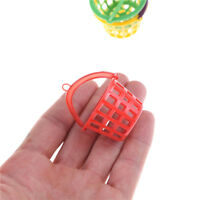 3PCS 1:12 Dollhouse Miniature Model Toy Accessories Plastic Trash Cans Basket ..