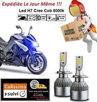 Kit ampoules Led Cree H7 6000K 72W Cob Blanc Tuning Eclairage Xenon TMAX