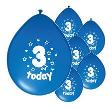 """10 X 3rd Globos De Cumpleaños Niño"""" 3 hoy """"tercer Globos De Cumpleaños Azul (PA)"""