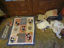 Mickey Mouse Crib Bedding Set Nursery Comforter Sheet Bed Room Disney baby