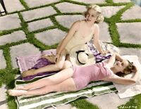 8x10 Print Eleanor Whitney Terry Walker Sexy Colorized Portrait 1937 #EWTW