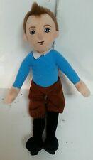 "TINTIN - 10"" Soft Toy Plush Doll 2011 Paramount Collectible Movie Toy Doll Retro"