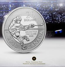 Canada $20 for $20 Fine Silver Coin - Hockey (2013)