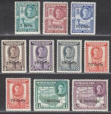 Somaliland Protectorate 1951 KGVI Surcharge Set to 2sh Mint SG125-133 cat £18