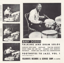 Baby Dodds - Footnotes to Jazz, Vol. 1: Baby Dodds Talking [New CD]