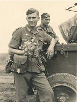 1621 WW2  Photo WWII US Marines with Field Gun USMC 1941  World War Two