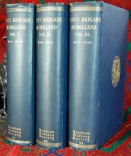 Ferguson Scots Brigade Netherlands 1572 1782 3 volumes.