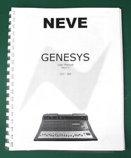 Complete Neve Genesys Mixing Console User Manual, Issue 1. MN