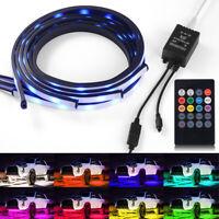 4pcs RGB 5050 LED Strip Under Car Tube Underglow Underbody Neon Light Kit LD2382