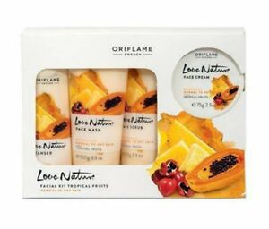 Oriflame Love Nature Facial Kit (Tropical Fruits) Controls Premature Ageing
