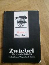 Zwiebel - Almanach 1984/85 - 20 Jahre Wagenbach