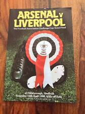 ARSENAL V LIVERPOOL 1980 FA CUP SEMI FINAL PROGRAMME FREE POSTAGE LOOK