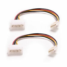 2pcs 4Pin IDE ATA Power Supply to Floppy Drives Adapter Cable Computer PC xc