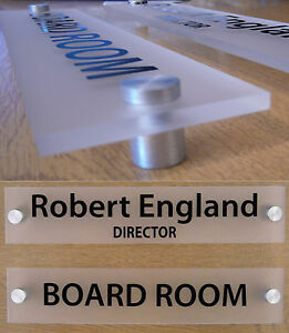QUALITY FROSTED ACRYLIC OFFICE DOOR SIGN / WALL SIGN / PLAQUE + FITTINGS
