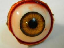 HALLOWEEN HORROR PROP EYEBALL POPPERS for skull or mask Infected Amber