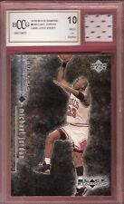MICHAEL JORDAN GRADED BCCG 10 MINT+ 98-99 BLACK DIAMOND CARD & GAME USED JERSEY
