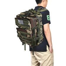 Army Camo Backpack 40L Tactical Outdoor Molle Military Rucksack Assault Bag Pack