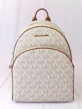 NEW WOMENS MICHAEL KORS ABBEY LARGE BACKPACK BOOK BAG SCHOOL BAG VANILLA