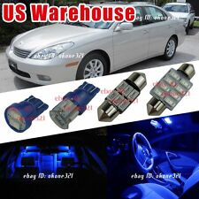 12-pc Pure Blue Interior LED Lights Package Kit For 98-03 Lexus ES300