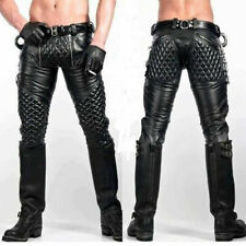 Real Leather Jeans Padded LEVI 501 STYLING  MOST SIZES AVAILABLE