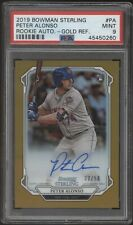 2019 Bowman Sterling Pete Alonso Peter Gold Refractor RC Auto /50 PSA 9