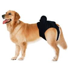 2 pcs Washable Female Pet Dog Elastic Physical Panties Sanitary Diaper Black