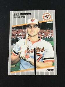 """1989 Fleer Bill Ripken FF Error Card #616 Saw Cut Version """"F&$@ FACE"""" Orioles"""
