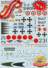 """Print Scale 72-270 """"Wet Decal for Lockheed T-33 Shooting Star Part3"""" Decals 1/72"""