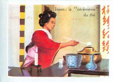 IMAGE CARD 60s Japon Japan: Ceremonie du thé Ceremony of tea