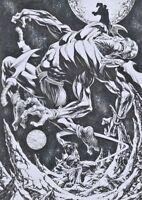 DYNAMITE Comics JOHN CARTER Original Art Sample Page DEJAH THORIS MARS GREEN MEN