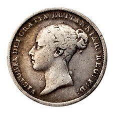 1846 Great Britain 6 Pence Silver Coin (Very Fine+, VF+ Condition) KM# 733.1