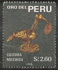 "Peru Stamp - Scott #506/A196 2.60s Black ""Yunca Sculptures"" Canc/Lh 1968"