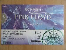 PINK FLOYD  CONCERT TICKET WERCHTER FESTIVAL GROUND BELGIUM 02/09/1994